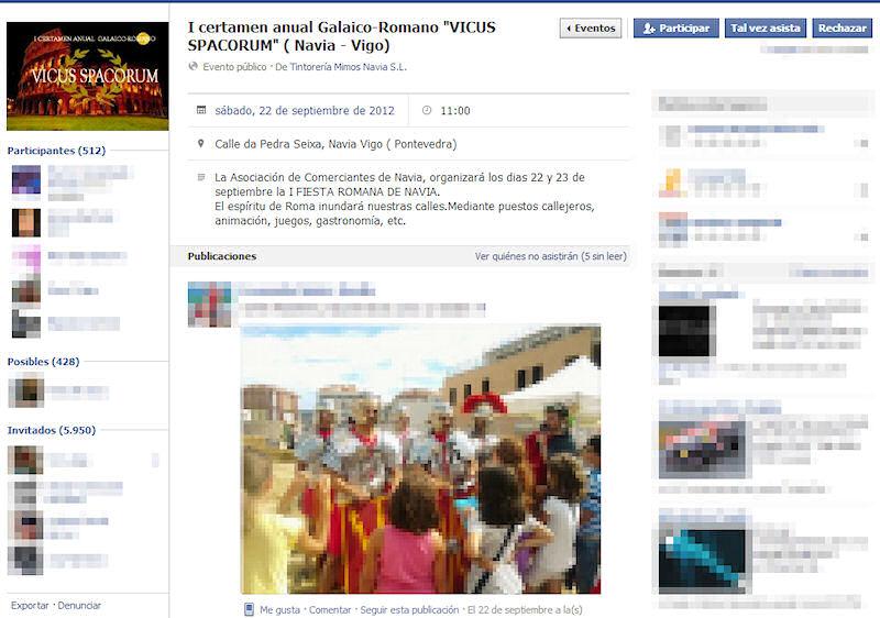 Evento Facebook Fiesta Romana